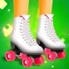女の子のスケーター - 女の子は、フリーゲームスケート