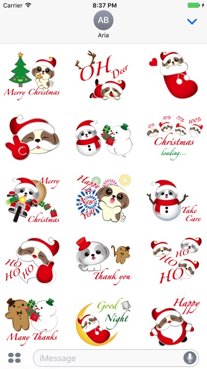 Merry Christmas Shih Tzu Dog