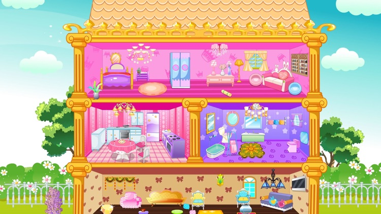 打工装扮娃娃屋-公主挣钱游戏