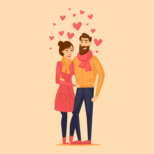 Animated Cute Couple Love By Mobisoft Labs