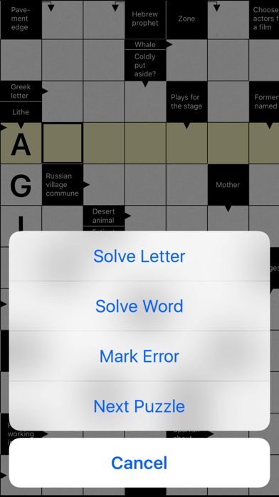 Crossword. A smart puzzle game screenshot 5