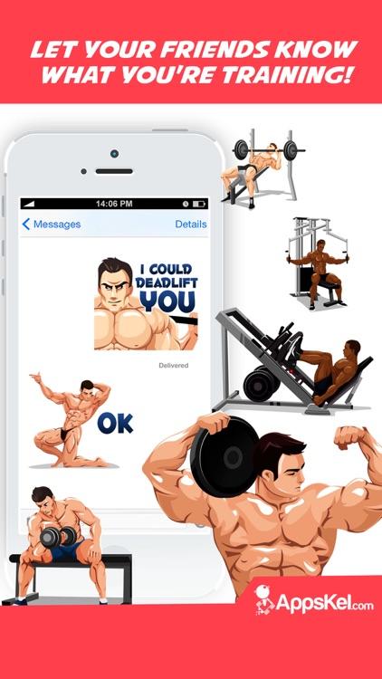 Body Building Emoji Stickers