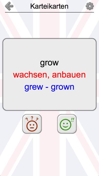 Unregelmäßige Verben: EnglischScreenshot von 4