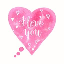 Watercolor Love&Quotes Sticker