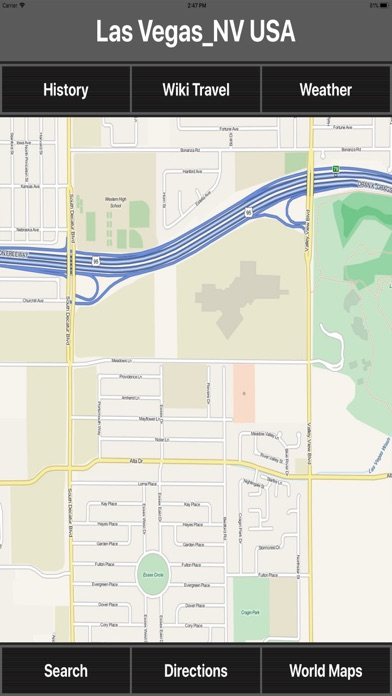 Las Vegas NV USA Travel Mapのおすすめ画像1