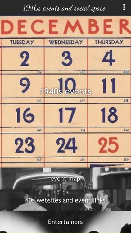 1940s events and social space