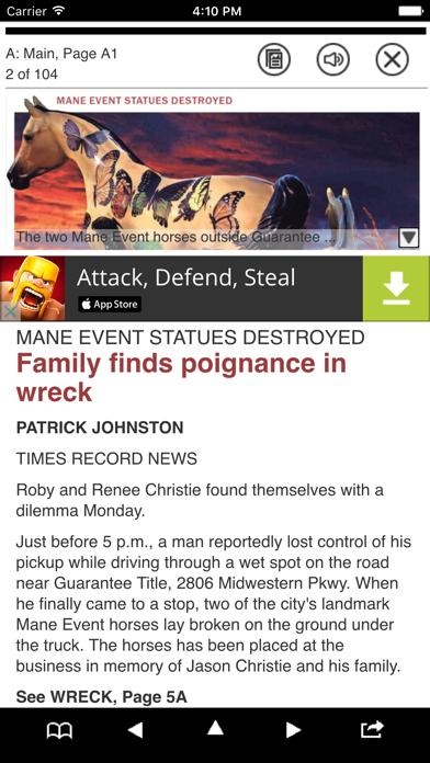 Times Record News Print Screenshot on iOS