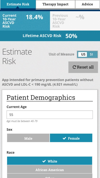 ASCVD Risk Estimator Plus screenshot-1