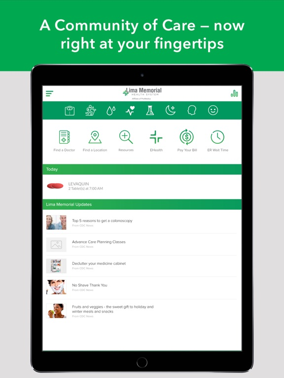 Lima Memorial Health System-ipad-0