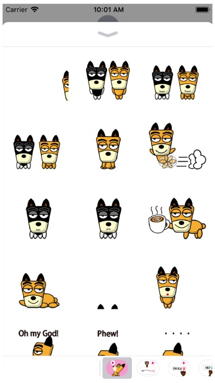 TF-Dog Animation 8 Stickers