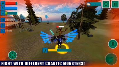 Flying Angel Fighting Sim 3D screenshot two