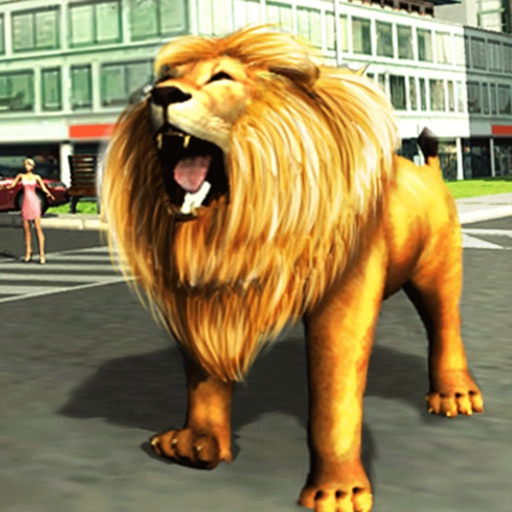 Сердитый лев Атака 3D