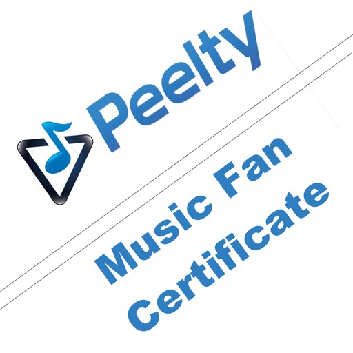 Peelty - Music Fan Certificate