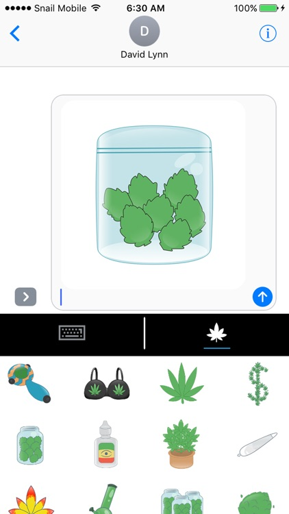 Vibin Weed Emoji Keyboard screenshot-2