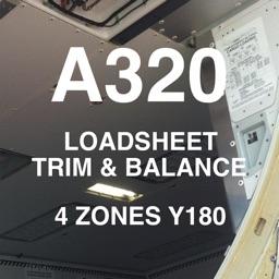A320 LOADSHEET T&B 180 4z PAX