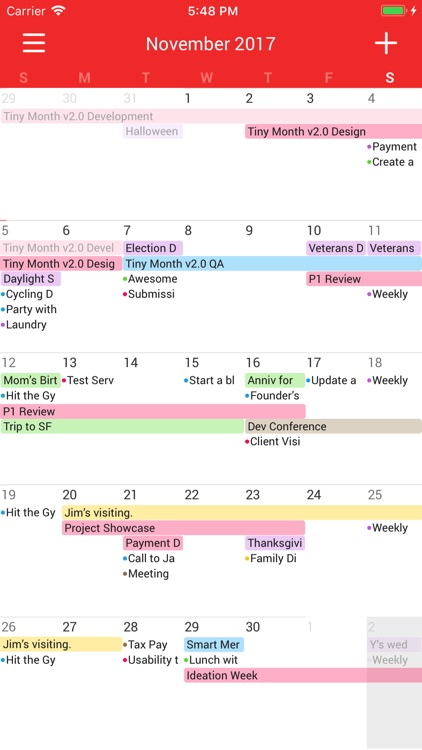 Tiny Month - Easy Calendar