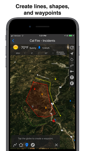 Large Wildfire Map.Fires Wildfire Maps And Info On The App Store