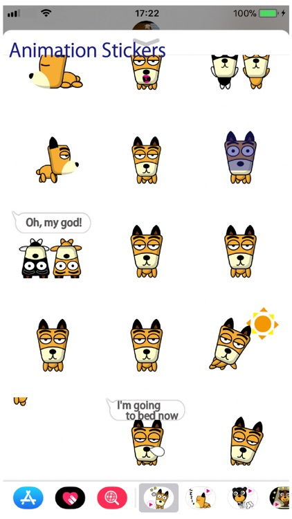 TF-Dog Animation 3 Stickers screenshot-3