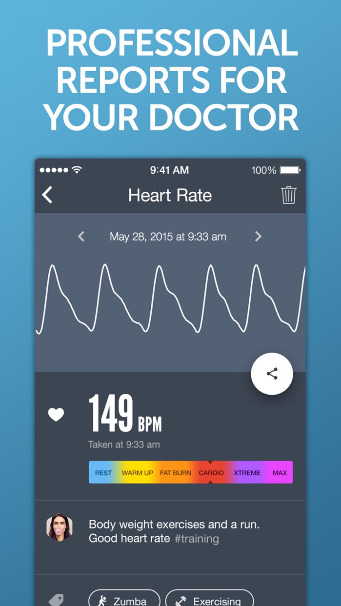 Instant Heart Rate+ HR Monitor Screenshot