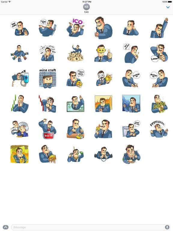 Mr. Trader CoinMoji Sticker screenshot 4