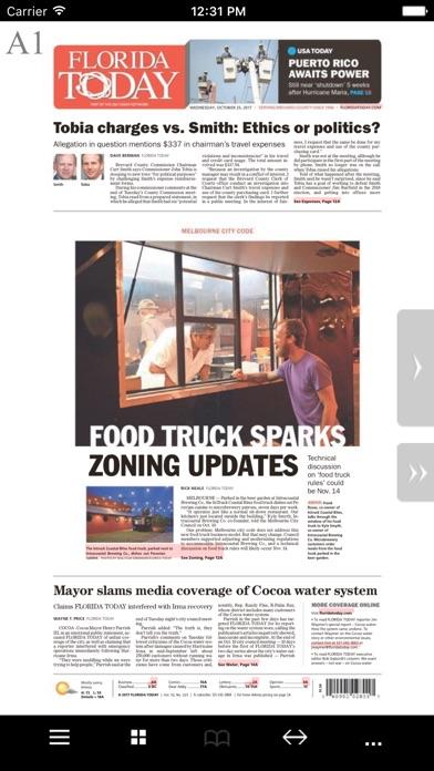 Florida Today Print Edition Screenshot on iOS