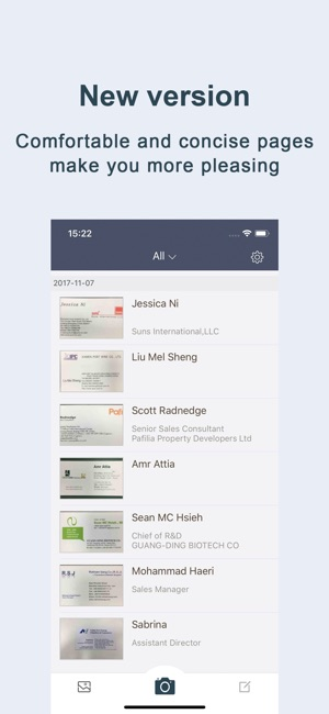 Business card scaner sam full on the app store iphone ipad reheart Images