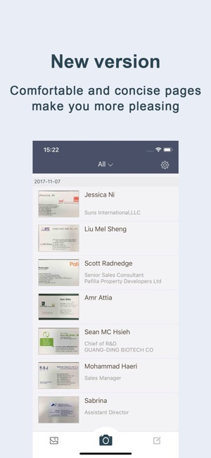 Business card scaner sam full on the app store iphone ipad reheart Gallery