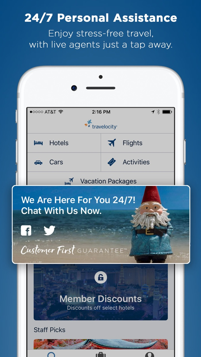 Travelocity Hotel, Flight, Car Screenshot