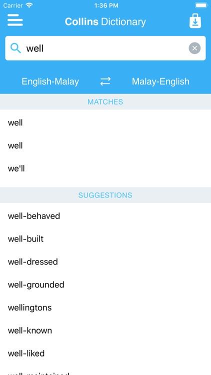 Collins Malay Dictionary screenshot-4
