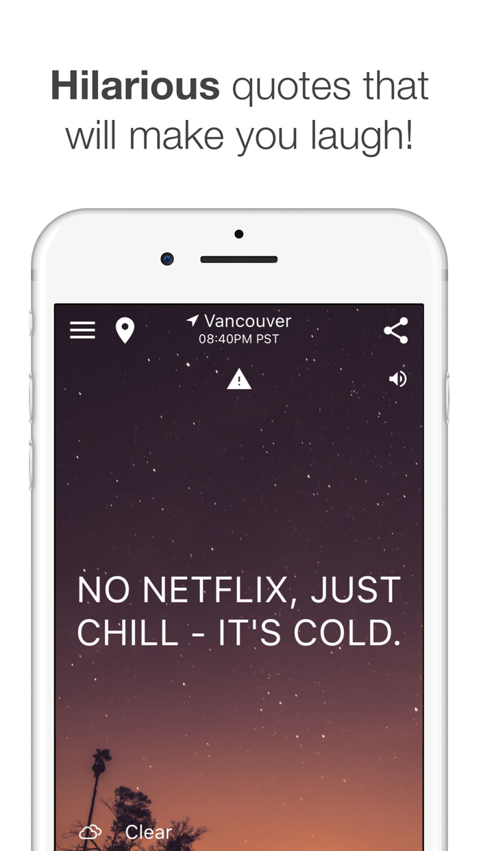 HumorCast - Hilarious Weather Screenshot