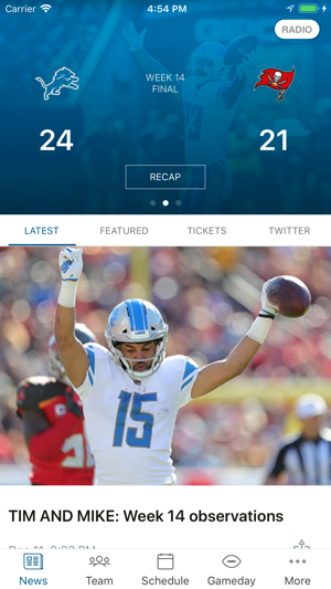 sale retailer 3b203 f21fe Detroit Lions Mobile on the App Store