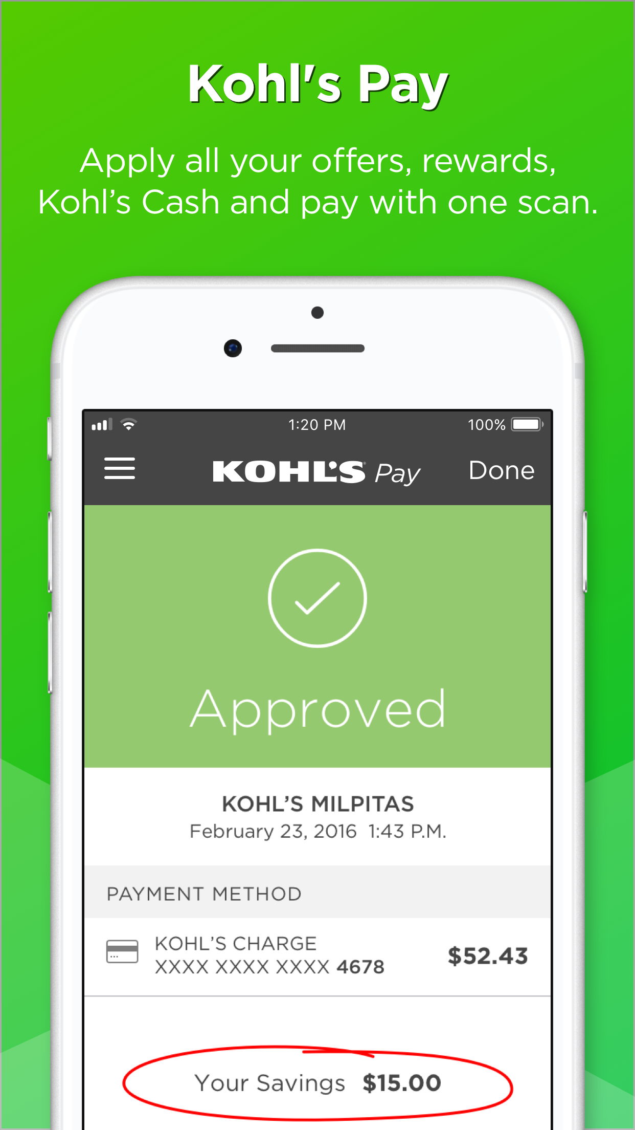 Kohl's Screenshot