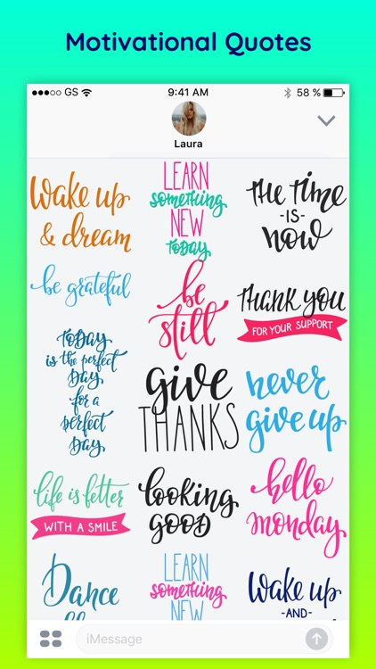 Motive - Inspirational Quotes & Text Chat Stickers screenshot-3