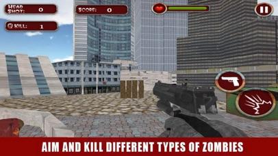 Zombie Dead Shooter Frontier screenshot one