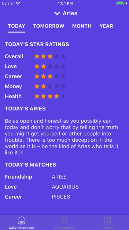 Daily Horoscope & Fortune