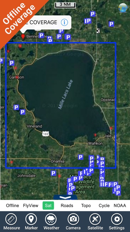 Mille Lacs Lake GPS charts fishing maps Navigator screenshot-4