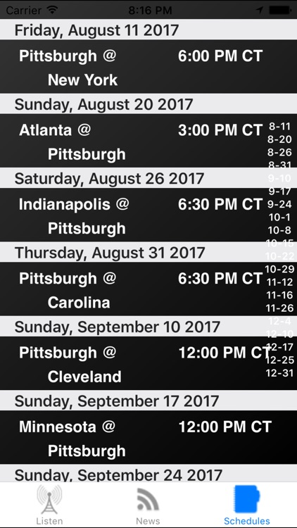 Pittsburgh Football Live - Radio, Schedule, News screenshot-2