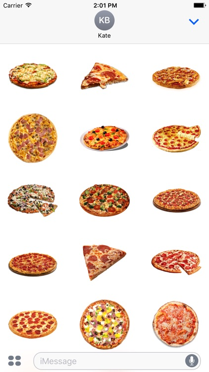 Pizza Stickers Emoji