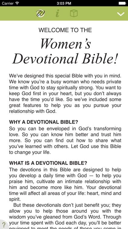 New Women's Devotional Bible