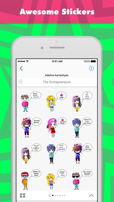 AdaによるThe Entrepreneursステッカーのスクリーンショット1