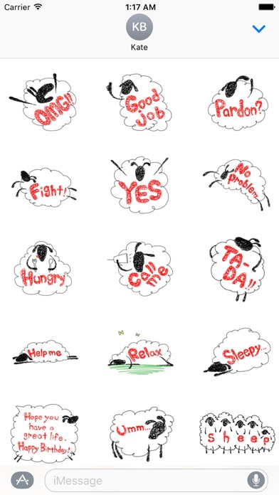 Lovely And Funny Sheep Sticker screenshot 2