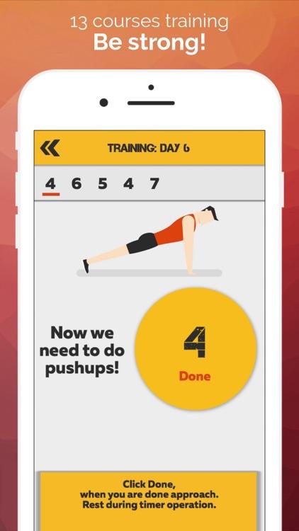 My trainer: pushups