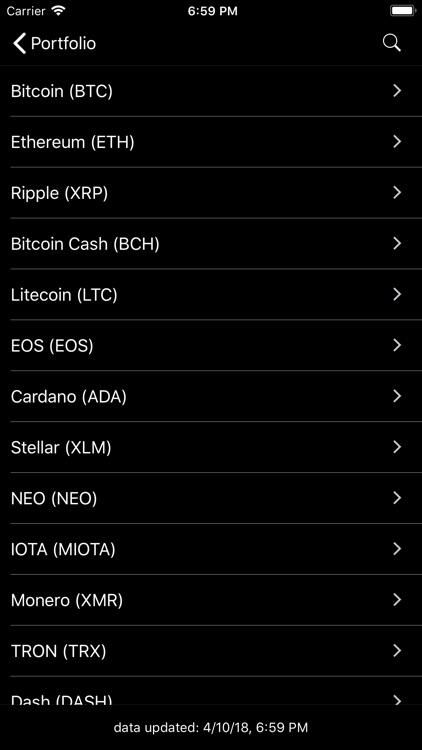 HODL - Crypto Portfolio Value