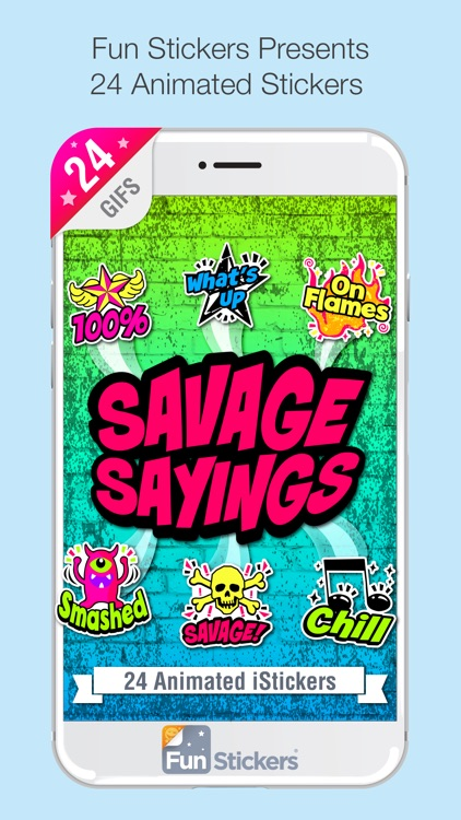Savage Sayings iSticker