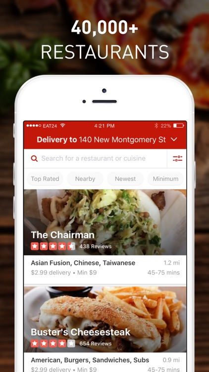 Yelp Eat24 - Order Food Delivery & Takeout screenshot-0