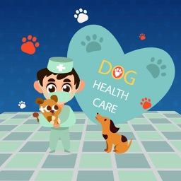 Happy Healthy Dog: Vet Care & Grooming Stickers