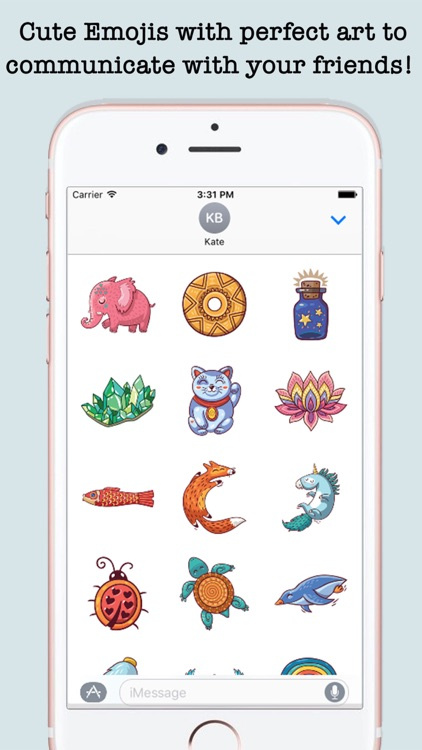 Cute Art Stickers For iMessage