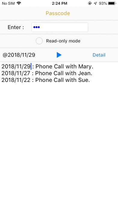CallPhoneCall - Telephone Memo screenshot 1