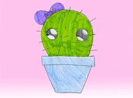 Kawaii! Cactus Stickers