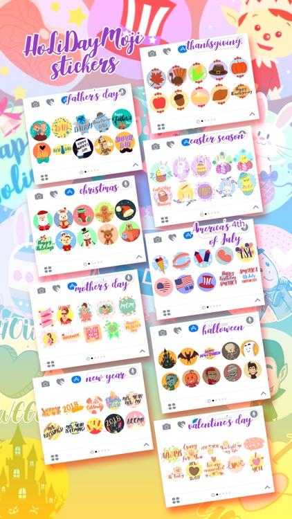 HolidayMOJI - Festive Stickers screenshot-3